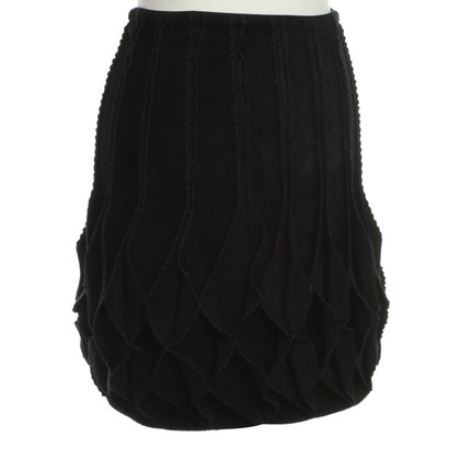 "Alaïa Rock ""Origami"" in Schwarz"