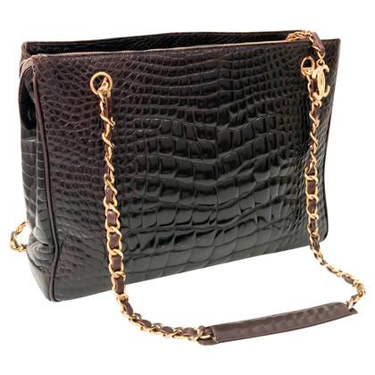 Chanel Schouder tas gemaakt van krokodillenleer