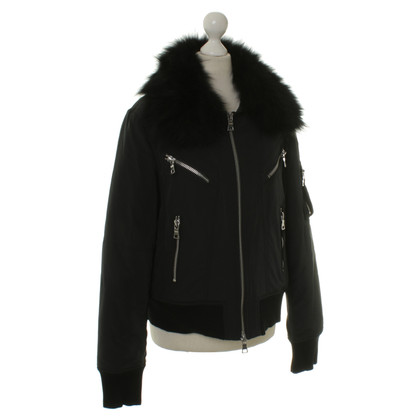 Blonde No8 Real fur collar bomber jacket
