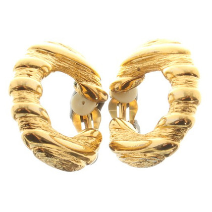Yves Saint Laurent Gold-colored ear clips
