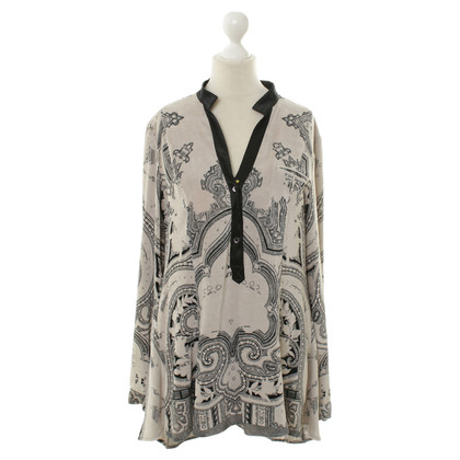 Etro Velvet blouse with Paisley pattern