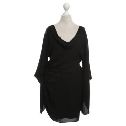 Halston Heritage Silk dress in black