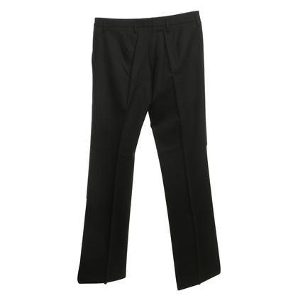 Prada pantaloni a pieghe in nero