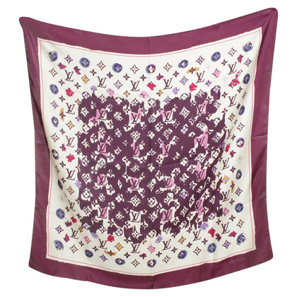 Louis Vuitton Silk scarf with Monogram Print