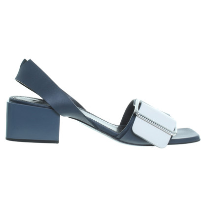 Jil Sander Sandal in blue / white
