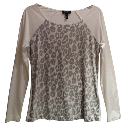Escada Top con stampa leopardo