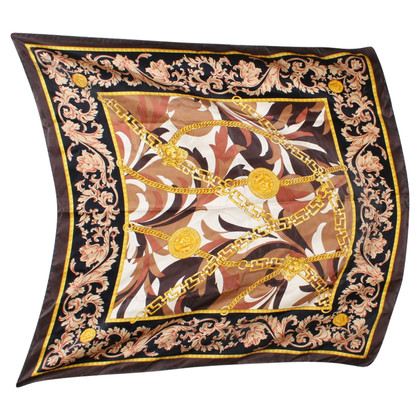 Versace Silk scarf with motif print