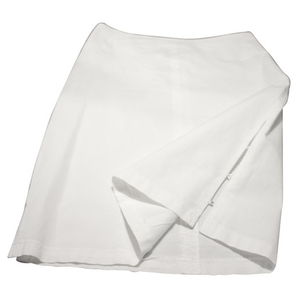 Marc Cain Cotton skirt in White