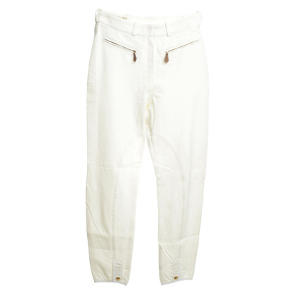 Hermès Riding trousers in white