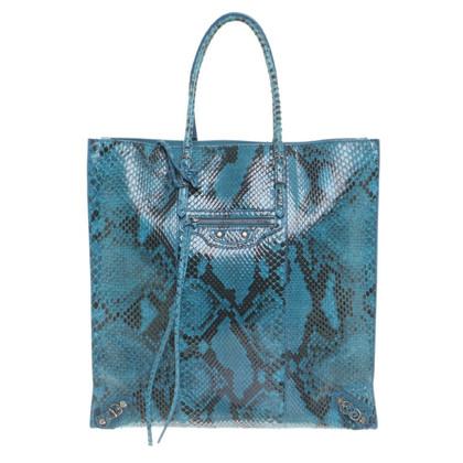 Balenciaga Pitone di carta A5 Bag