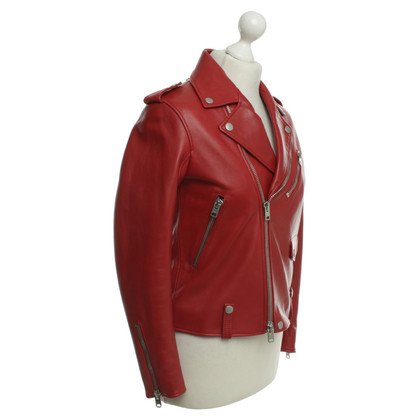 Coach Leather jacket with biker look