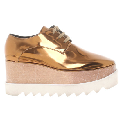 Stella McCartney Gold lace-up shoes