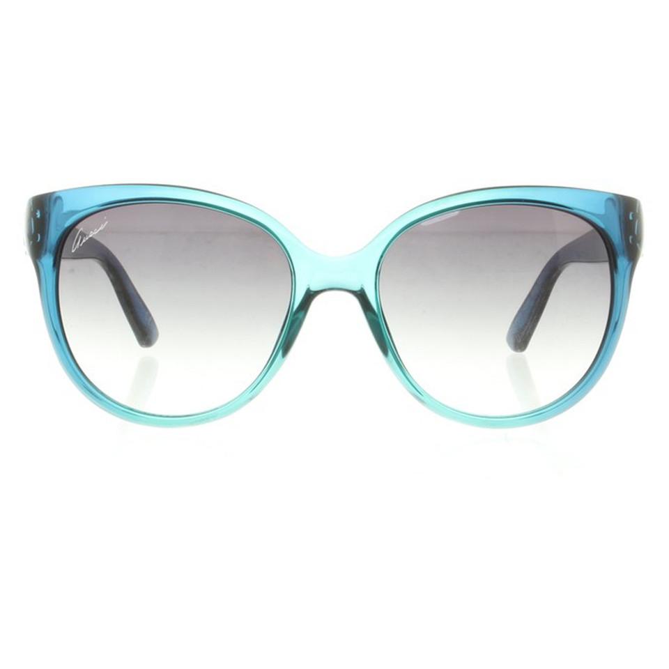 gucci brille in blau second hand gucci brille in blau. Black Bedroom Furniture Sets. Home Design Ideas