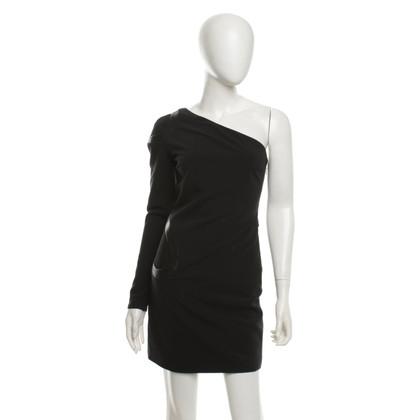 Versace One-shoulder dress in black