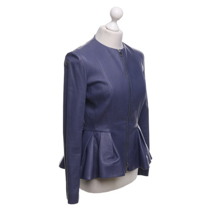 Christian Dior Leather jacket in pigeon blue