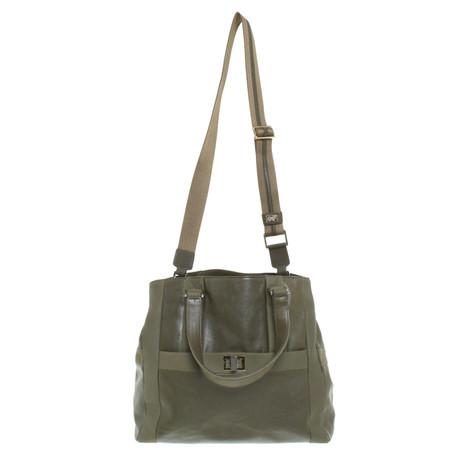 Freies Verschiffen Vermarktbare Günstig Kaufen Besten Verkauf Anya Hindmarch Lederhandtasche in Grün Oliv Billige Usa Händler  Billig Geniue Händler 0s2SbG