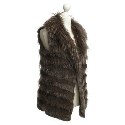 Oakwood Gilet di pelliccia marrone