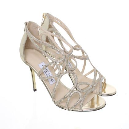 Jimmy Choo Layla lame glitter mirror sandals