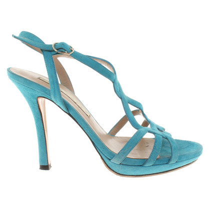 Pura Lopez Sandals in turquoise