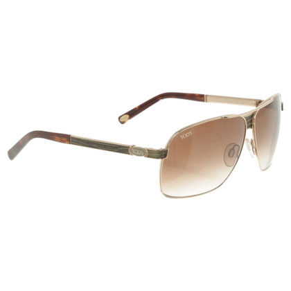 Tod's Sunglasses with lizard leather