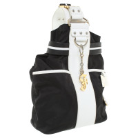 Ferre Crossbody Backpack in Black / White