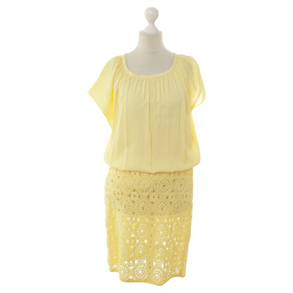Boss Orange Yellow dress with crochet detail