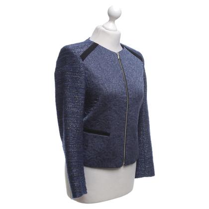 Sandro Bouclé jacket in blue / black