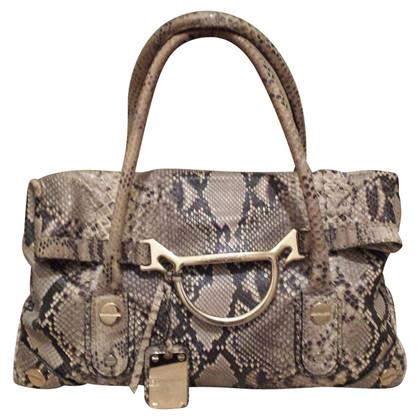 Borbonese Handtasche aus Pythonleder