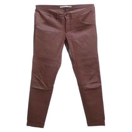 Schumacher Pantaloni di pelle in marrone