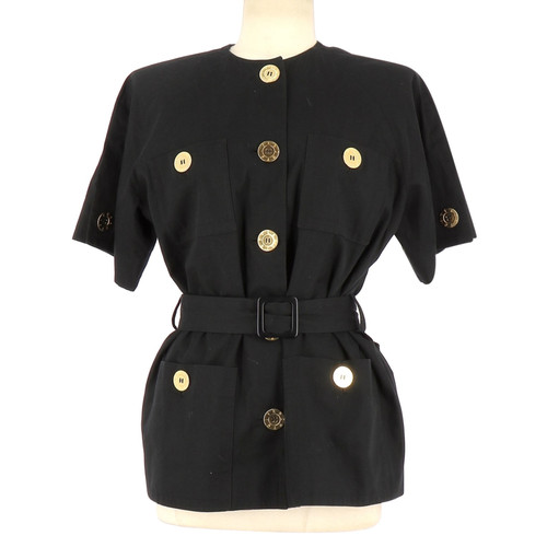 348210987 Givenchy Jacket/Coat Cotton in Black - Second Hand Givenchy Jacket ...