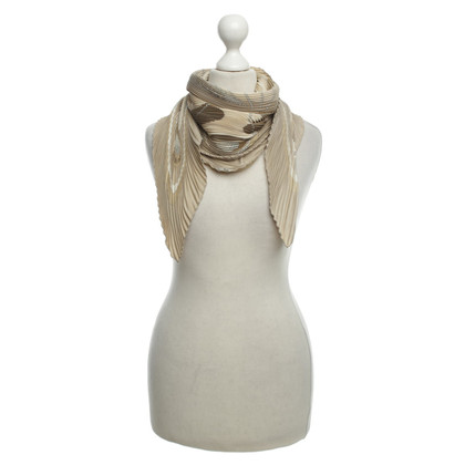 Hermès Geplooide Carré in beige