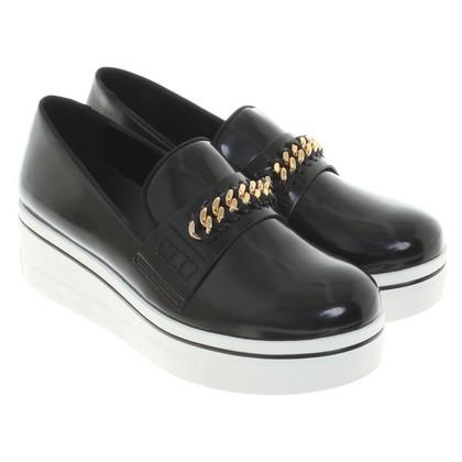 Stella McCartney Plateau-loafer in zwart