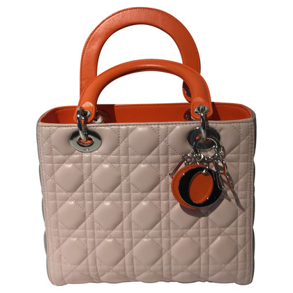 "Christian Dior ""Lady Dior"" in Grau/Orange/Pink"