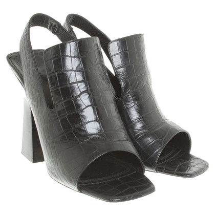 Céline Peeptoes in Schwarz