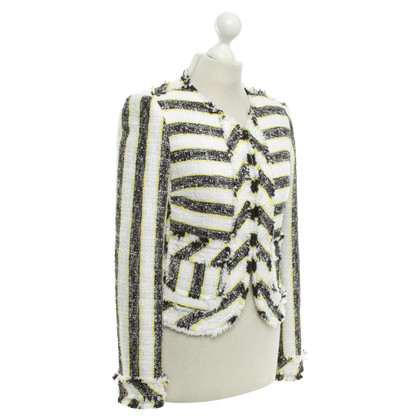 MSGM Box jacket with stripes pattern