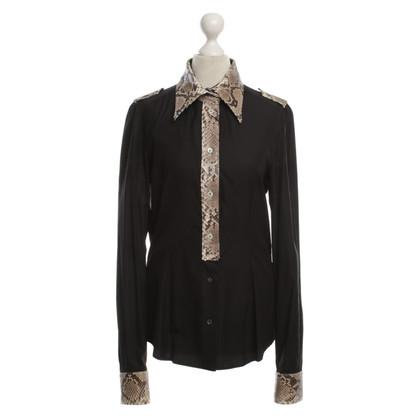 Dolce & Gabbana Snake lederen kraag blouse