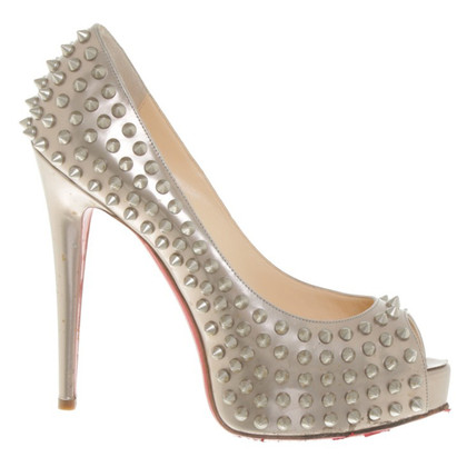 Christian Louboutin Peeptoes Studded