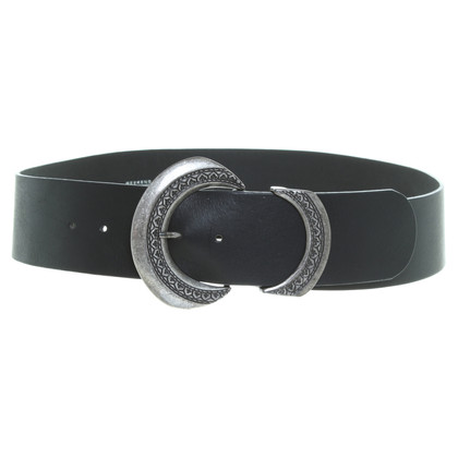 Max Mara Leather belt in black