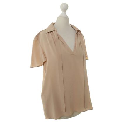 Prada Zijden blouse in nude