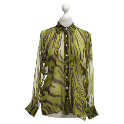 Plein Sud Silk blouse with pattern