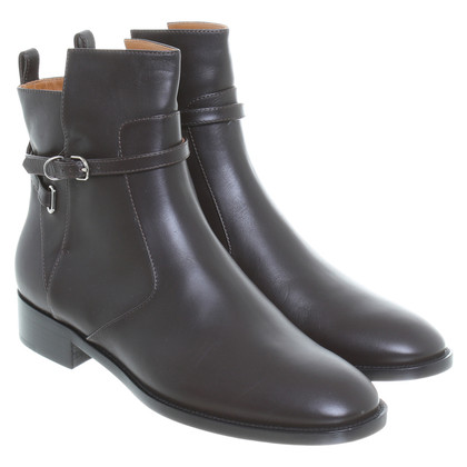 Balenciaga Leather ankle boots with long strap