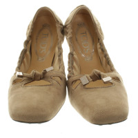 Tod's Ballerinas in Taupe