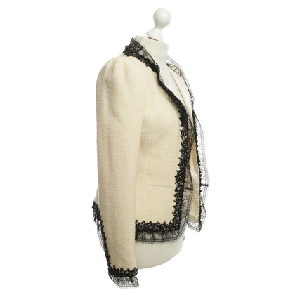 Oscar de la Renta giacca bouclé in crema bianco