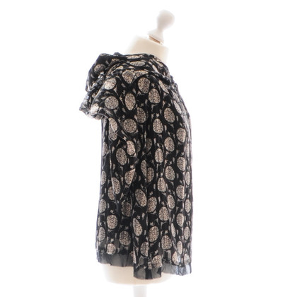 Costume National Black patterned silk dress