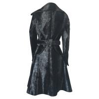 Patrizia Pepe Black leopard coat
