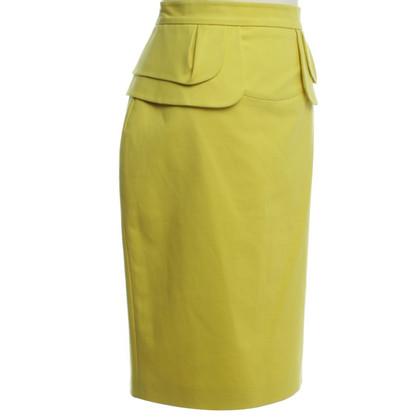 Karen Millen skirt in neon green