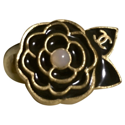 Chanel Camellia ear clips