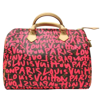 "Louis Vuitton ""Graffiti Speedy 30"" in Fuchsia"