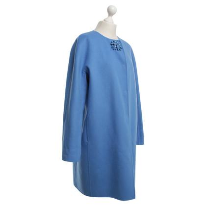 Ermanno Scervino Wollen jas in lichtblauw