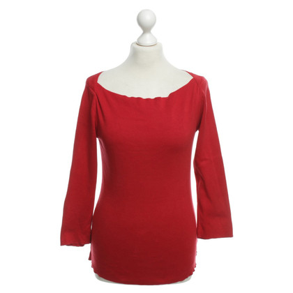 Armani Jeans Baumwollpullover in Rot